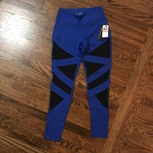 Jessica Simpson Pants - Jessica Simpson Activewear Leggings with Mesh